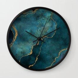 Golden Gemstone Glamour Mineral Wall Clock