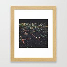 LA Lights Framed Art Print