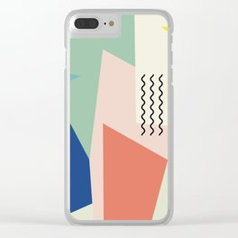 Shapes and Waves Clear iPhone Case