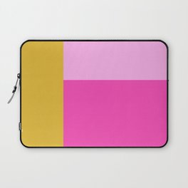 Geometric Bauhaus Style Color Block in Bright Colors Laptop Sleeve