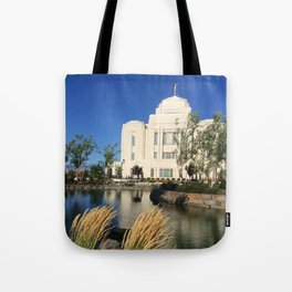 Meridian, ID LDS Temple Waving Grass Tote Bag