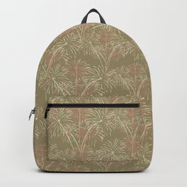 Fireworks Bloom on Cafe au Lait Backpack