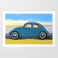 Beach Bug Art Print