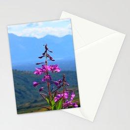 Fireweed Overlooking Mat-Su Valley, Alaska Stationery Cards
