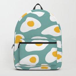 Eggs pattern on blue Backpack