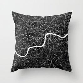 London - Minimalist City Map Throw Pillow
