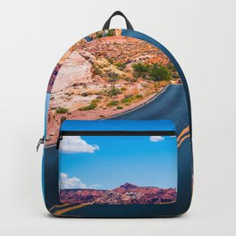 Valley of Fire panoramic road Backpack