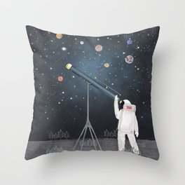 Astronaut Astrology Throw Pillow