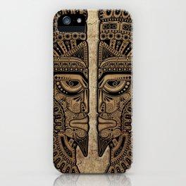 Stone Aztec Twins Mask Illusion iPhone Case