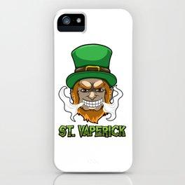 St. Vaperick - Vaping Leprechaun - Vape Ireland iPhone Case