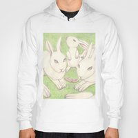 bunnies Hoodies featuring Bunnies by Adi Yochalis