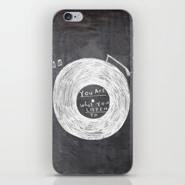 you are what you listen to, BLACK iPhone Skin