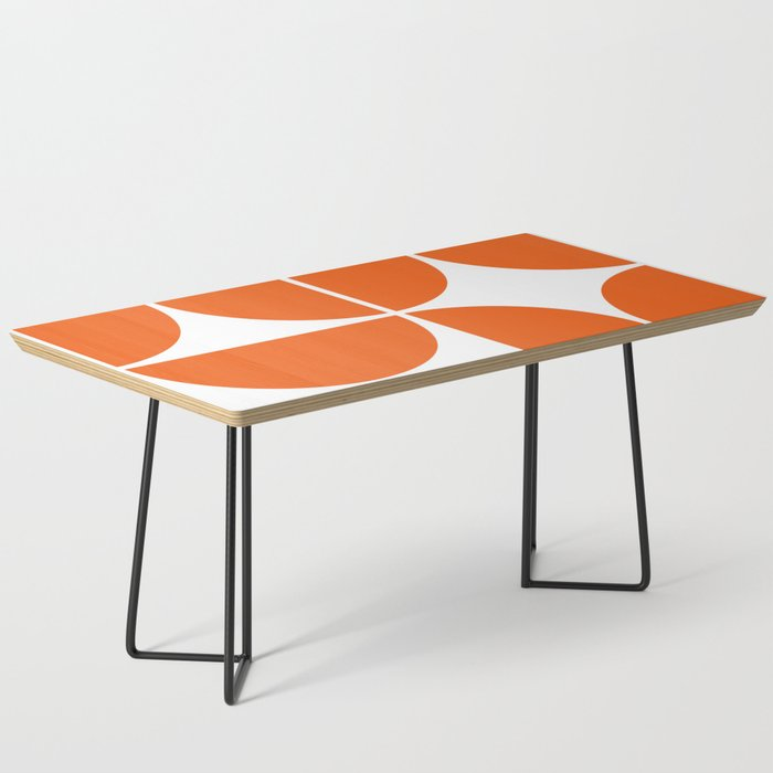 Mid Century Modern Orange Square Coffee Table By Theoldartstudio Society6