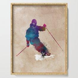 alpine skiing #ski #skiing #sport Serving Tray