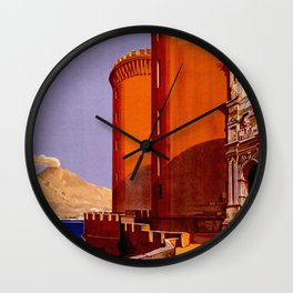 Napoli - Naples Italy Vintage Travel Wall Clock