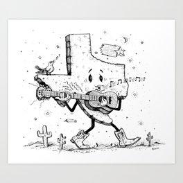 Texas Music Art Print
