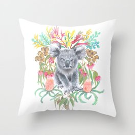 Home Among the Gum leaves Throw Pillow