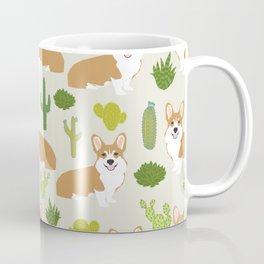 Welsh Corgi cactus southwest desert dog breed corgis gifts Coffee Mug