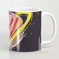 saturn Mugs featuring Saturn by Rimadi