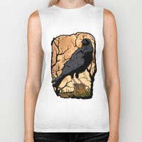 crow Biker Tanks featuring Crow by Murat Sünger