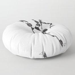 Kung Fu Dancer Floor Pillow