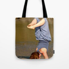Yoga on Palolem Beach Tote Bag