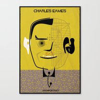 eames Canvas Prints featuring _Charles Eames by federico babina