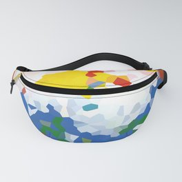 Abstract background red, blue and yellow colors Fanny Pack