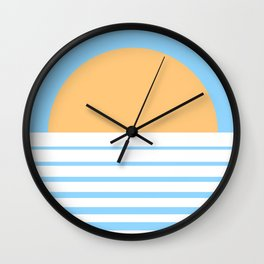 Tropical Sun Wall Clock