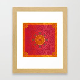 """Fuchsia and Gold Mandala"" Framed Art Print"