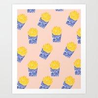 Floral Fries Art Print