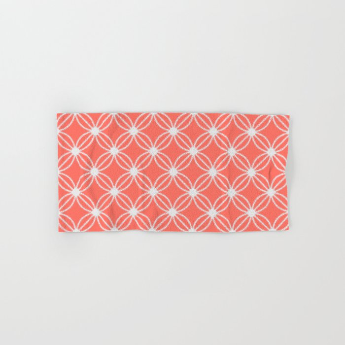 Abstract Circle Dots Peach II Hand & Bath Towel