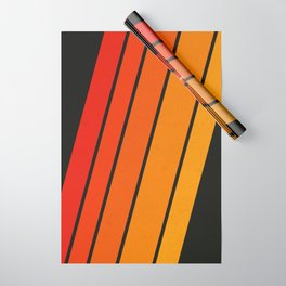 Retro 70s Stripes Wrapping Paper