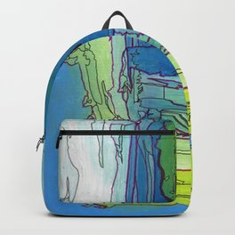 Mood Chart Blue Abstract Ocean Painting Backpack