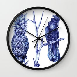 Pineapple and Bird Wall Clock