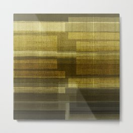 """Burlap Texture Greenery Shades"" Metal Print"
