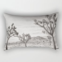 Joshua Tree Grey By CREYES Rectangular Pillow
