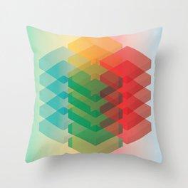 Color Cubes Throw Pillow