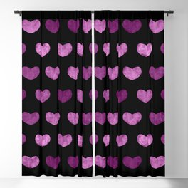 Colorful Cute Hearts VI Blackout Curtain
