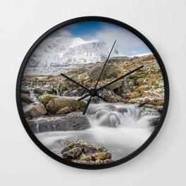 Snowdonia Mountain River Wall Clock