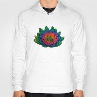 lotus flower Hoodies featuring Lotus  by Luna Portnoi