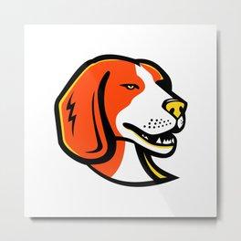 Beagle Hound Dog Mascot Metal Print