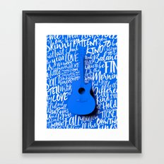 Lyrics & Type - Bon Iver - Skinny Love Framed Art Print