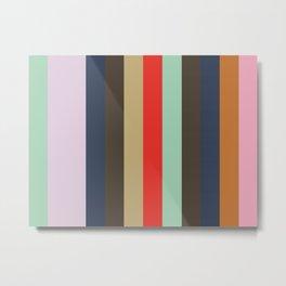 ALLITERATION Abstract Pattern Metal Print
