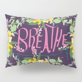 Floral Inspirational Quote Illustrated Print Pillow Sham