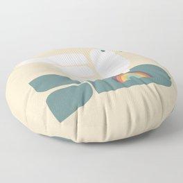 Peace dove and rainbow bomb Floor Pillow