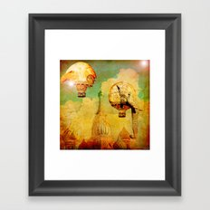 Hot-air balloons animal in Moscow Framed Art Print