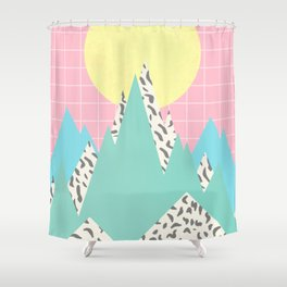 Memphis Mountains Shower Curtain