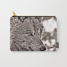 Rustic Style - Wolf 2 Carry-All Pouch