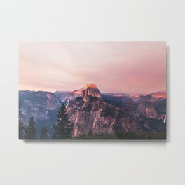 Purple Yosemite Valley in California United States of America Metal Print